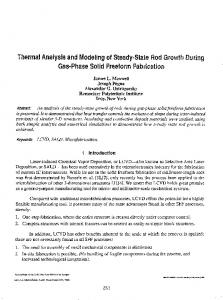 Thermal Analysis and Modeling of Steady-State Rod Growt