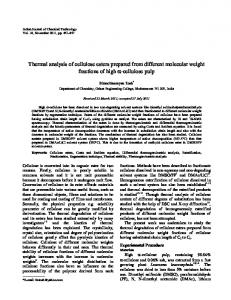 Thermal analysis of cellulose esters prepared from ... - Semantic Scholar