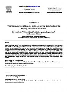 Thermal Analysis of Engine Cylinder having thick tip ...