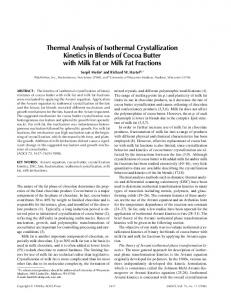 Thermal Analysis of Isothermal Crystallization Kinetics in Blends of ...