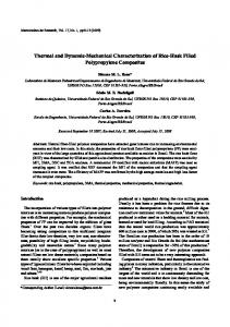 Thermal and Dynamic-Mechanical Characterization of ... - CiteSeerX