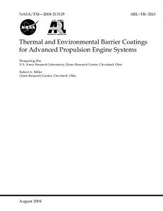 Thermal and Environmental Barrier Coatings for ...