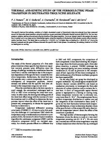 thermal and kinetic study of the ferroelectric phase ... - Springer Link