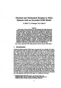Thermal and Mechanical Stresses in Thick Spheres with an Extended ...