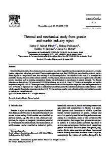Thermal and mechanical study from granite and