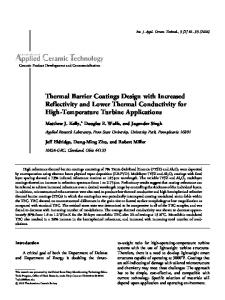 Thermal Barrier Coatings Design with Increased ... - Wiley Online Library