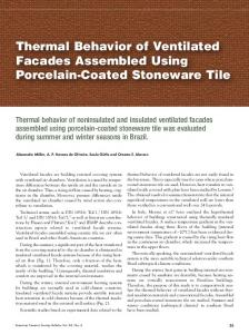 Thermal Behavior of Ventilated Facades Assembled ...