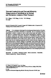 Thermal-Conductivity and Thermal-Diffusivity Measurements of ...