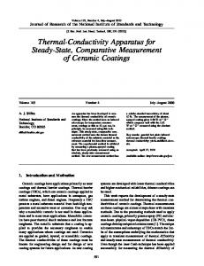 Thermal-Conductivity Apparatus for Steady-State