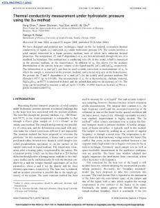 Thermal conductivity measurement under hydrostatic pressure using ...