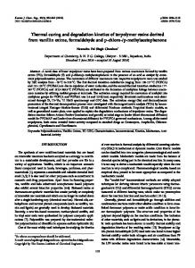 Thermal curing and degradation kinetics of terpolymer resins derived ...