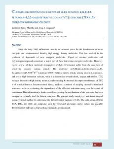 THERMAL DECOMPOSITION KINETICS OF 4,10-DINITRO-2,6,8,12 ...