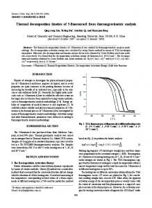 Thermal decomposition kinetics of 5-fluorouracil from ... - Springer Link