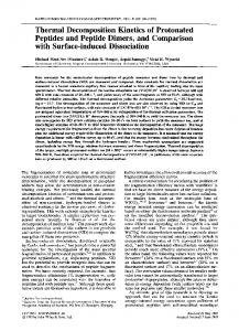 Thermal decomposition kinetics of protonated