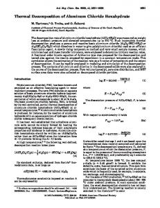Thermal Decomposition of Aluminum Chloride Hexahydrate