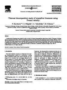 Thermal decomposition study of crystalline limestone