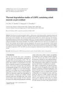 Thermal degradation studies of LDPE containing cobalt ... - CiteSeerX