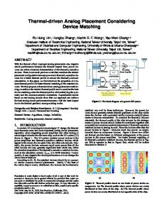 Thermal-driven Analog Placement Considering Device Matching