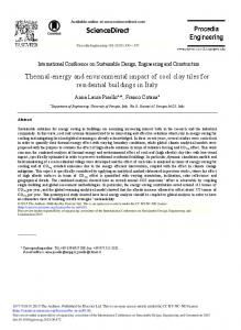 Thermal-energy and Environmental Impact of Cool ... - Science Direct