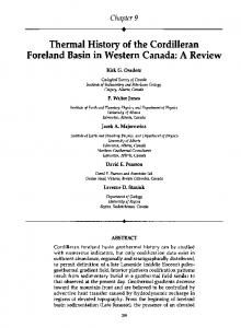 Thermal History of the Cordilleran Foreland Basin in ...