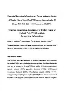 Thermal Imidization Kinetics of Ultrathin Films of Hybrid Poly(POSS ...