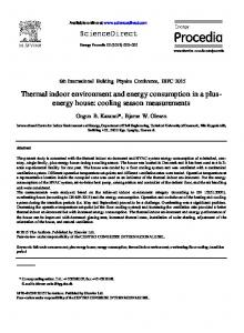 Thermal indoor environment and energy consumption ...