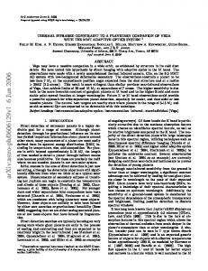 THERMAL INFRARED CONSTRAINT TO A PLANETARY ...