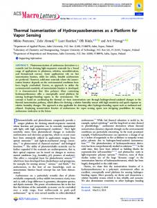 Thermal Isomerization of Hydroxyazobenzenes as ... - ACS Publications
