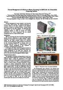 Thermal Management of A Multi-core Master Processing ... - IEEE Xplore