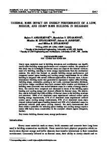 Thermal mass impact on energy performance of a ... - Thermal Science