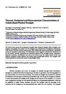 Thermal, Mechanical and Electrochemical Characterization of Gelatin ...