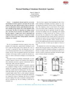 Thermal Modeling of Aluminum Electrolytic Capacitors
