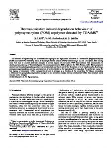 Thermal-oxidative induced degradation behaviour of