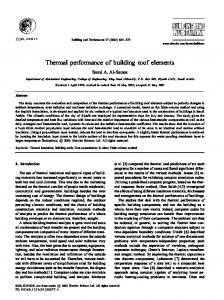 Thermal performance of building roof elements