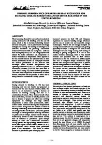 thermal performance of earth-air heat exchanger for reducing cooling ...
