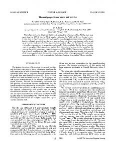 Thermal properties of boron and borides - APS Link Manager