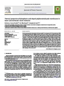 Thermal properties of phosphoric acid-doped polybenzimidazole ...