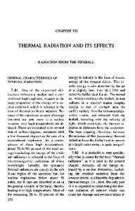 THERMAL RADIATION AND ITS EFFECTS - Fourmilab