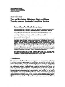 Thermal Radiation Effects on Heat and Mass Transfer over an