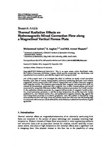 Thermal Radiation Effects on Hydromagnetic ... - Semantic Scholar