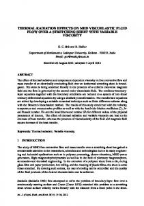 thermal radiation effects on mhd viscoelastic fluid flow ...