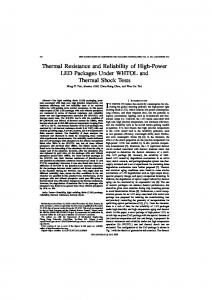 Thermal Resistance and Reliability of High-Power LED ... - IEEE Xplore