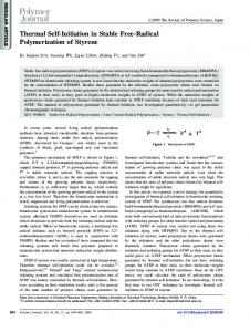 Thermal Self-Initiation in Stable Free-Radical Polymerization ... - Nature