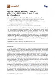 Thermal, Spectral and Laser Properties of Er3+:Yb3+ ... - MDPI