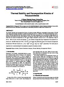 Thermal Stability and Decomposition Kinetics of Polysuccinimide
