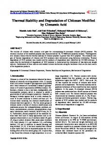 Thermal Stability and Degradation of Chitosan
