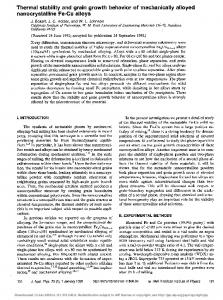 Thermal stability and grain growth behavior of mechanically ... - Core