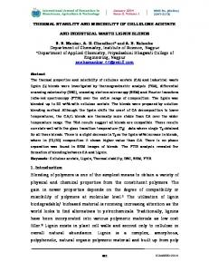 THERMAL STABILITY AND MISCIBILITY OF