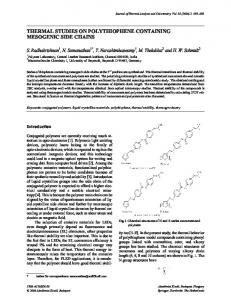 thermal studies on polythiophene containing ... - Springer Link