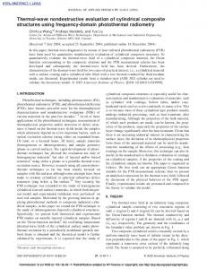 Thermal-wave nondestructive evaluation of cylindrical composite